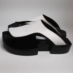 Robert Clergerie White Thong Platform Sandals 8.5